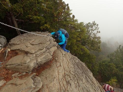 クサリ場を登る